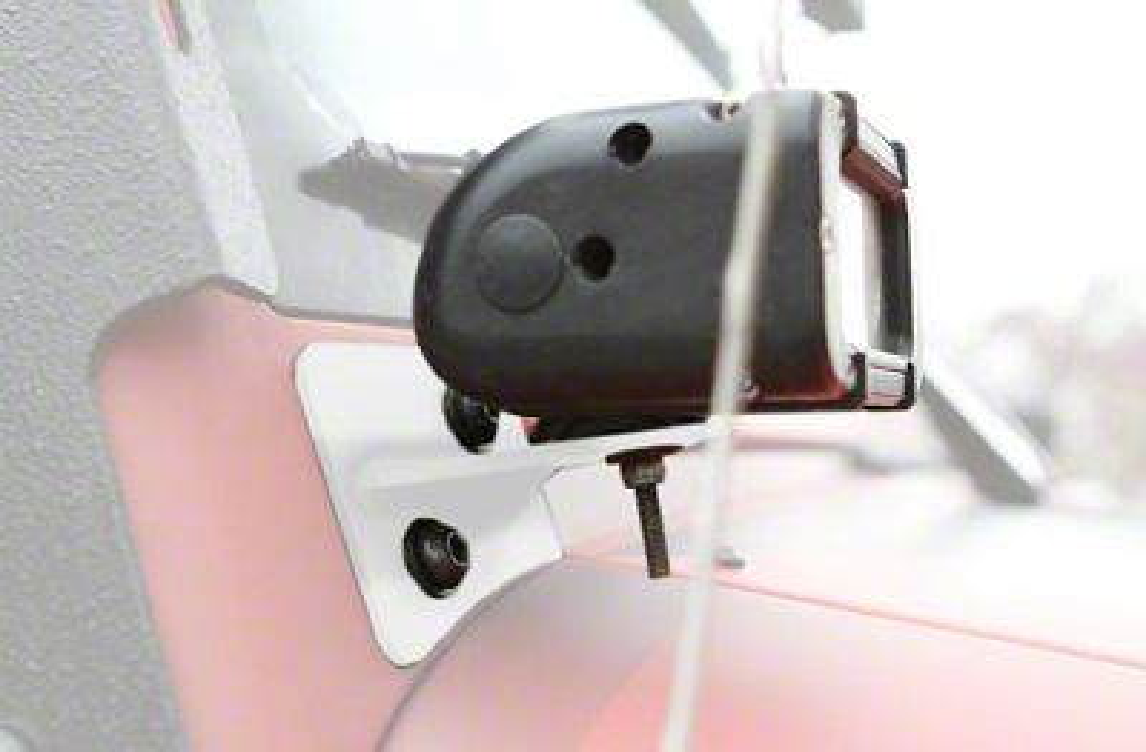Steinjager LED Lights w/ Lower Windshield Mounting Brackets - Cloud White (07-18 Jeep Wrangler JK)