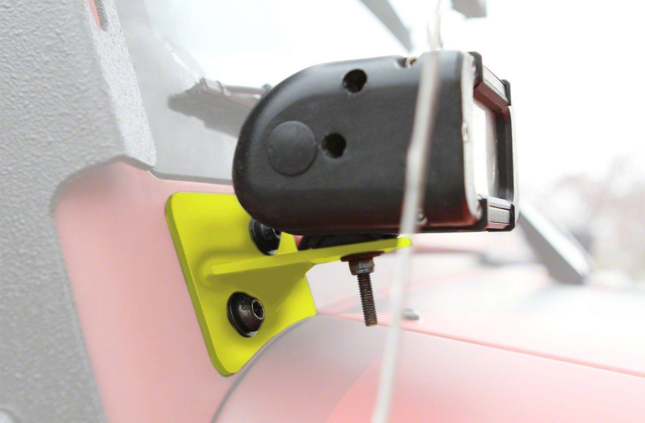 Steinjager LED Lights w/ Lower Windshield Mounting Brackets - Lemon Peel (07-18 Jeep Wrangler JK)