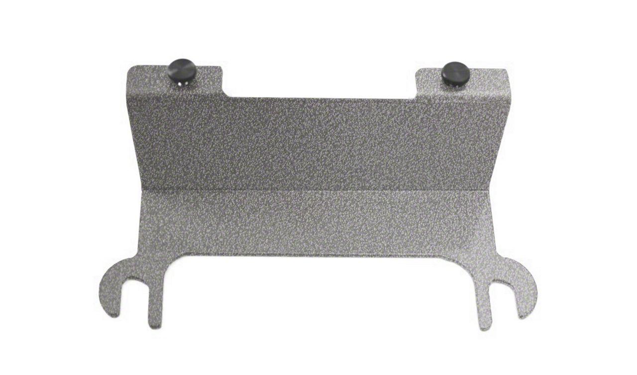 Steinjager License Plate Relocation Kit - Gray Hammertone (07-18 Jeep Wrangler JK)