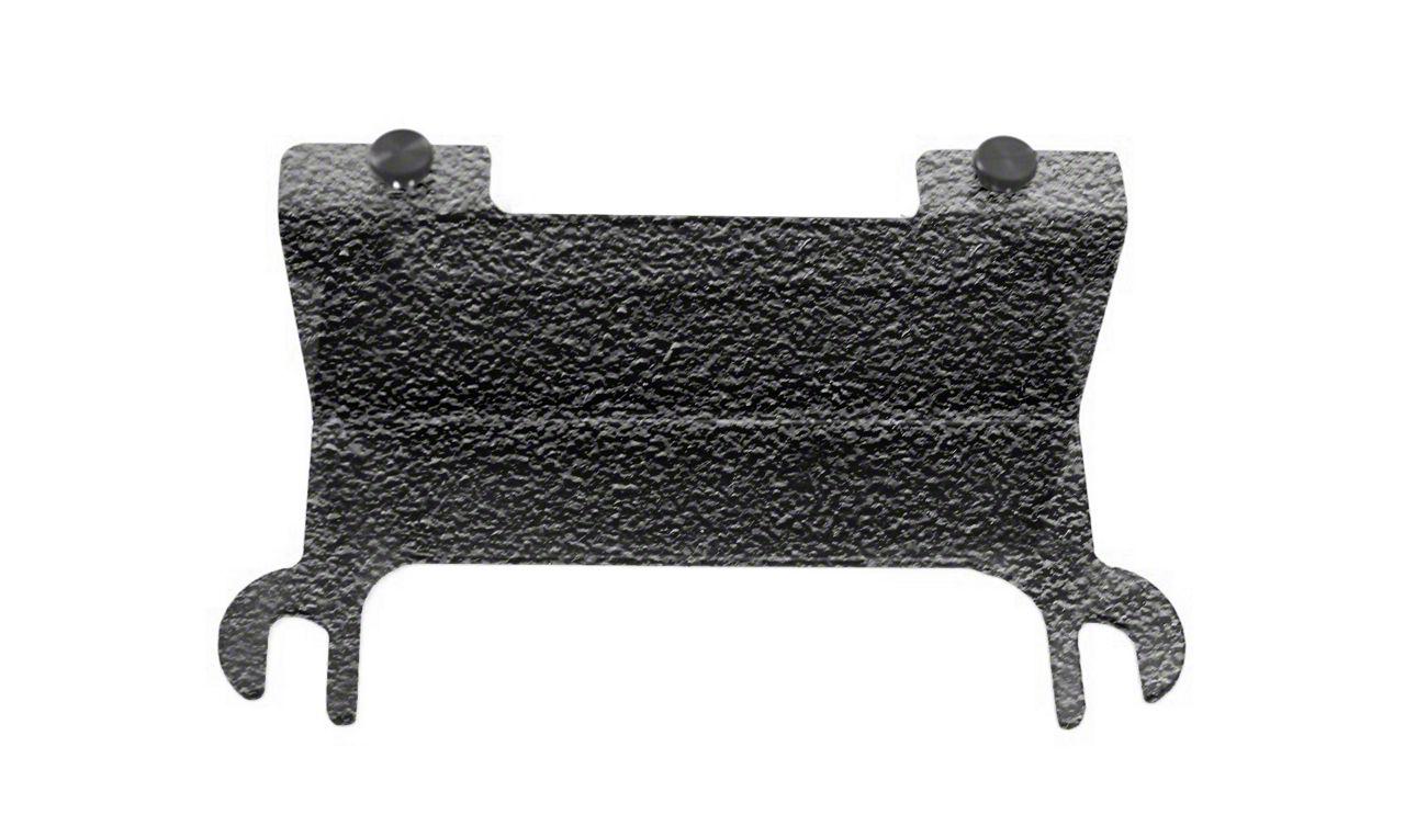 Steinjager License Plate Relocation Kit - Textured Black (07-18 Jeep Wrangler JK)