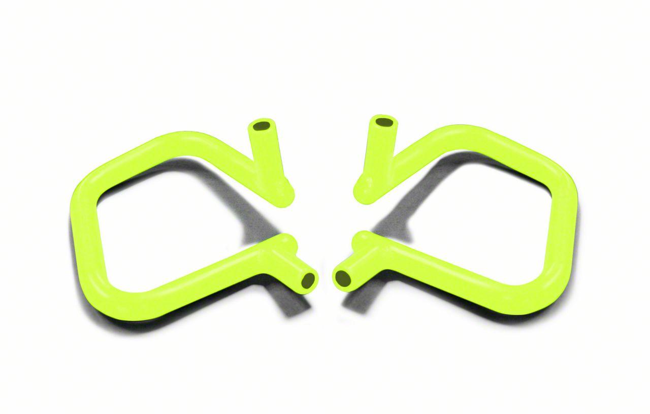 Steinjager Rigid Wire Form Front Grab Handles - Gecko Green (07-18 Jeep Wrangler JK)