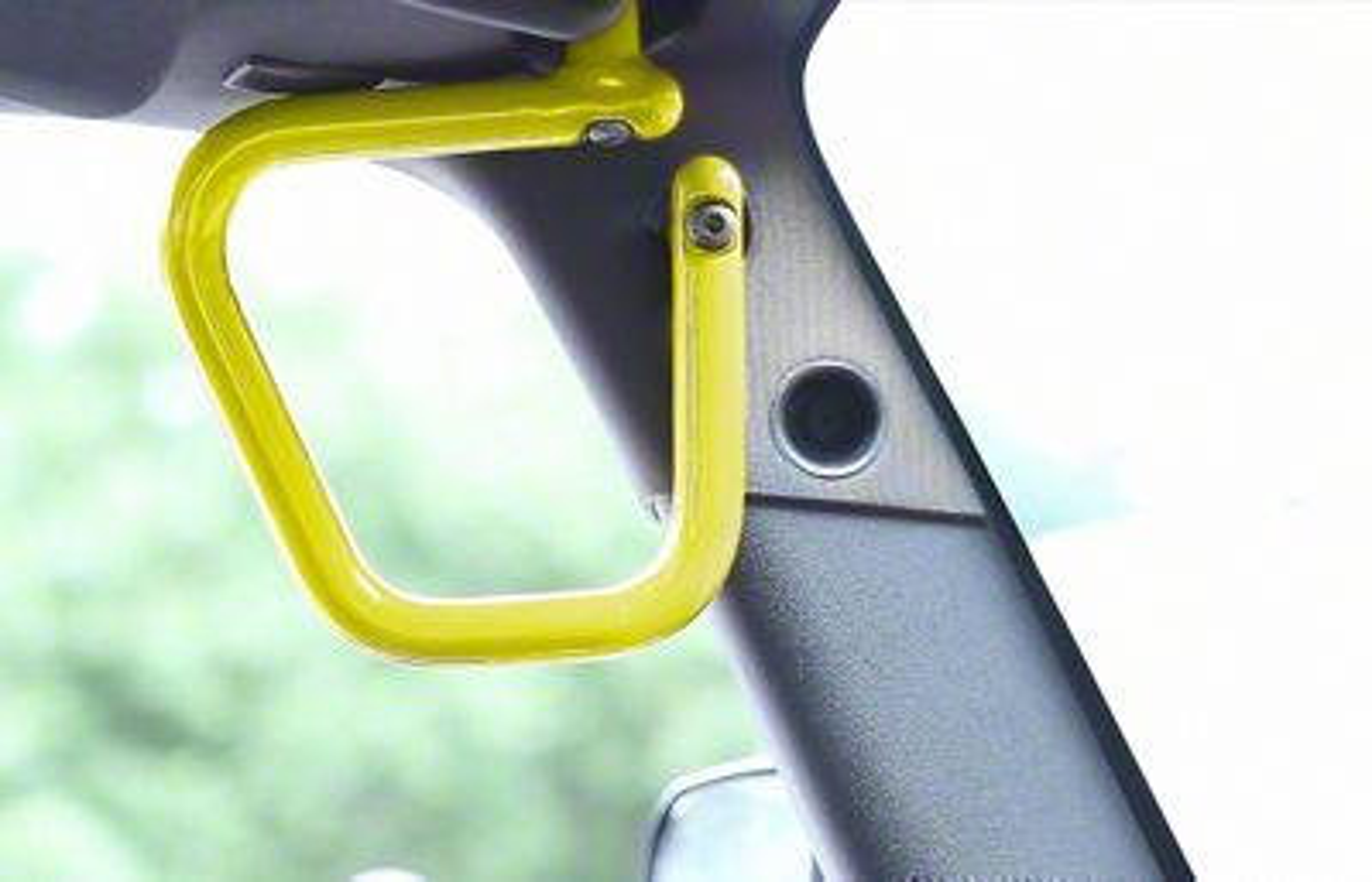 Steinjager Rigid Wire Form Front Grab Handles - Lemon Peel (07-18 Jeep Wrangler JK)