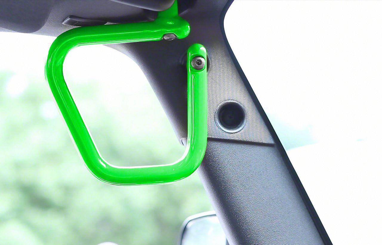 Steinjager Rigid Wire Form Front Grab Handles - Neon Green (07-18 Jeep Wrangler JK)