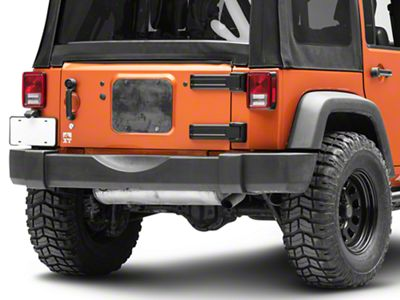 Steinjager Spare Tire Carrier Delete Plate - Bare Metal (07-18 Jeep Wrangler JK)