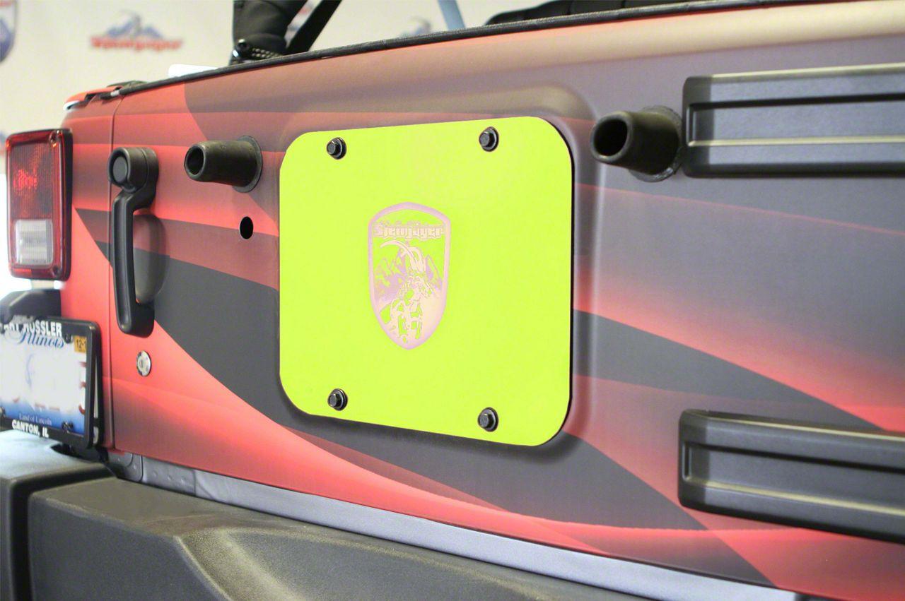 Steinjager Spare Tire Carrier Delete Plate - Gecko Green (07-18 Jeep Wrangler JK)