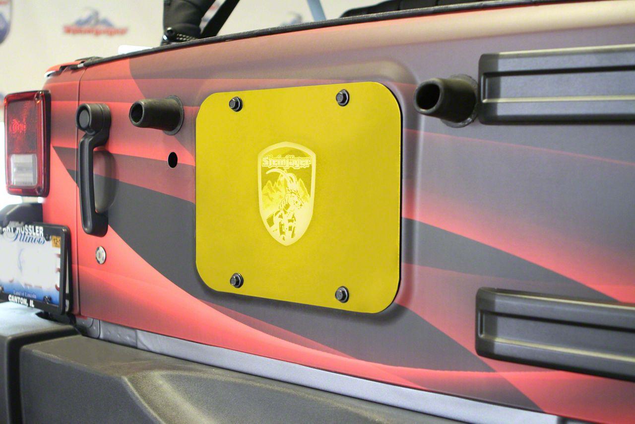 Steinjager Spare Tire Carrier Delete Plate - Lemon Peel (07-18 Jeep Wrangler JK)