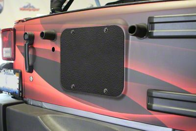Steinjager Spare Tire Carrier Delete Plate - Textured Black (07-18 Jeep Wrangler JK)
