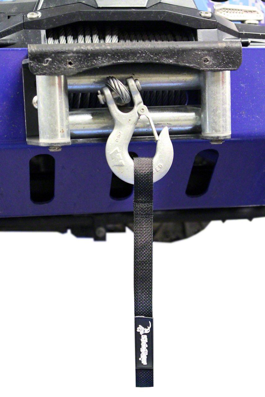 Steinjager Winch Hook Strap - Black (07-18 Jeep Wrangler JK)