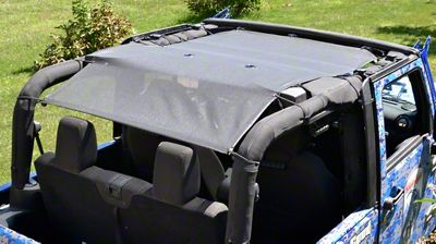 Steinjager Teddy Top Solar Screen Cover - Black (10-18 Jeep Wrangler JK 2 Door)