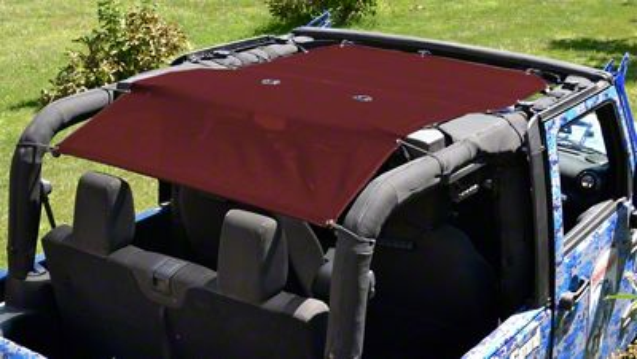 Steinjager Teddy Top Solar Screen Cover - Burgundy (10-18 Jeep Wrangler JK 2 Door)