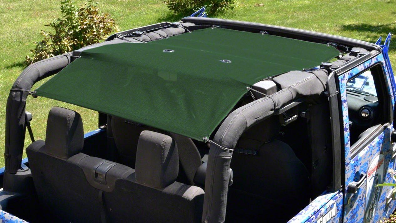 Steinjager Teddy Top Solar Screen Cover - Dark Green (10-18 Jeep Wrangler JK 2 Door)
