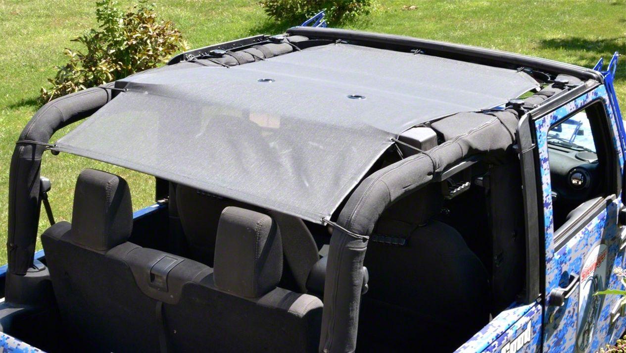 Steinjager Teddy Top Solar Screen Cover - Gray (10-18 Jeep Wrangler JK 2 Door)