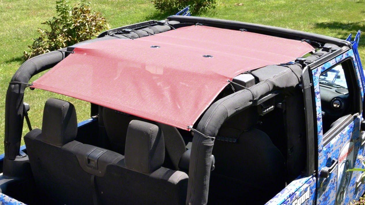 Steinjager Teddy Top Solar Screen Cover - Mauve (10-18 Jeep Wrangler JK 2 Door)