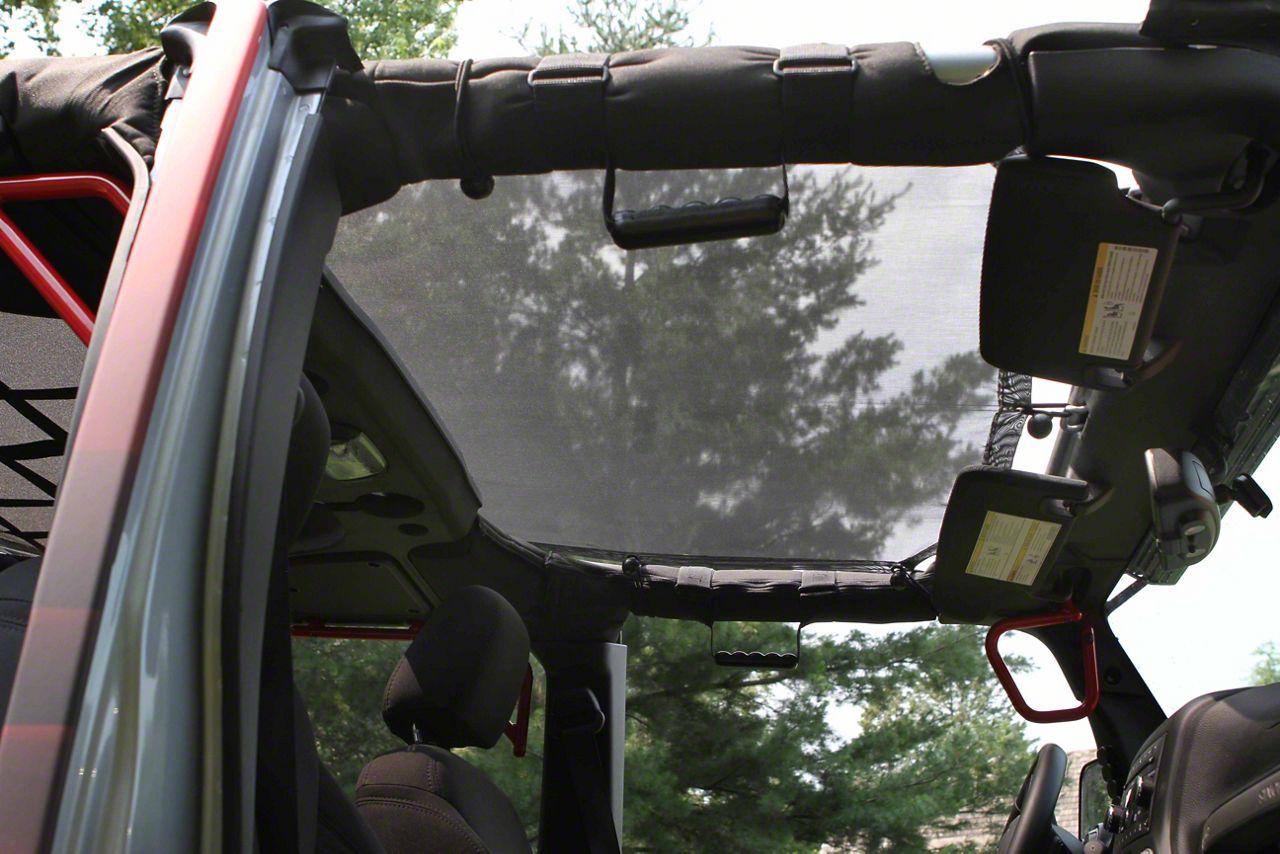 Steinjager Teddy Top Solar Screen Cover - Black (10-18 Jeep Wrangler JK 4 Door)
