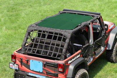 Steinjager Teddy Top Solar Screen Cover - Green (10-18 Jeep Wrangler JK 4 Door)
