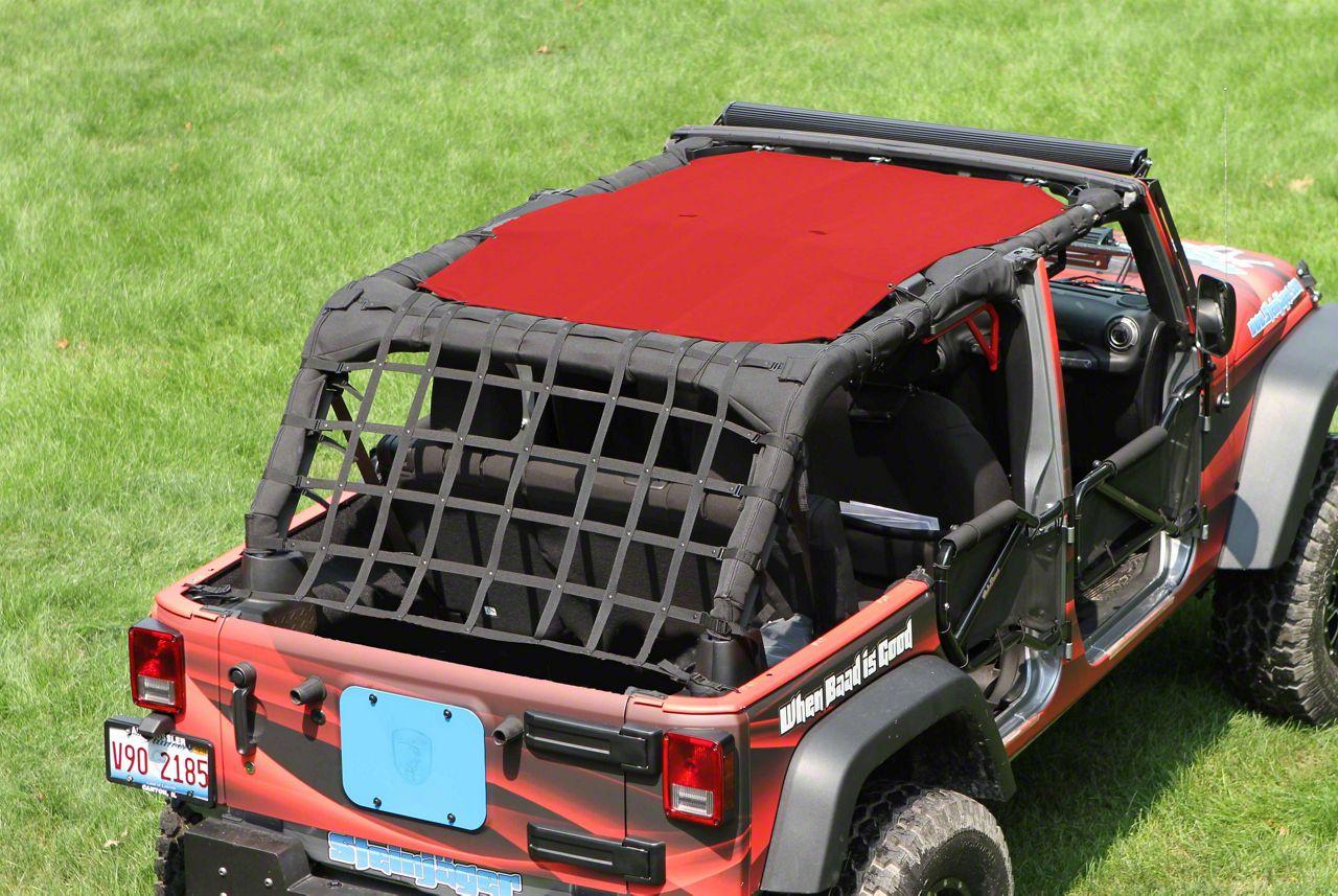Steinjager Teddy Top Solar Screen Cover - Red (10-18 Jeep Wrangler JK 4 Door)