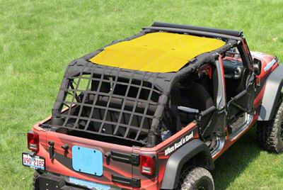 Steinjager Teddy Top Solar Screen Cover - Yellow (10-18 Jeep Wrangler JK 4 Door)