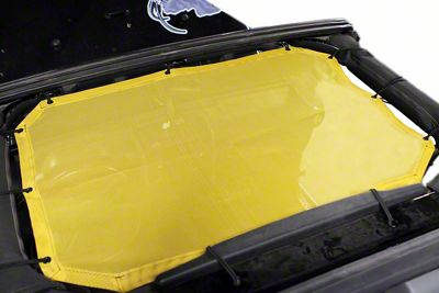 Steinjager Teddy Top Front Seat Solar Screen Cover - Yellow (10-18 Jeep Wrangler JK)