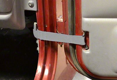 Steinjager Factory Door Limiting Straps - Gray (87-95 Jeep Wrangler YJ)