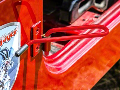 Steinjager Stationary Foot Rest Kit - Red Baron (87-95 Jeep Wrangler YJ)