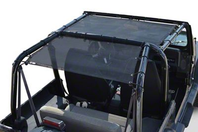 Steinjager Teddy Top Front Seat Solar Screen Cover - Black (87-95 Jeep Wrangler YJ)