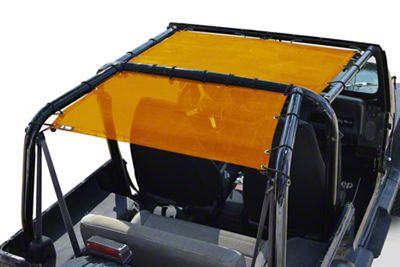Steinjager Teddy Top Front Seat Solar Screen Cover - Orange (87-95 Jeep Wrangler YJ)