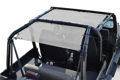 Steinjager Teddy Top Rear Seat Solar Screen Cover - White (87-95 Jeep Wrangler YJ)