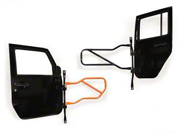 Steinjager Door Holder - Black (97-06 Jeep Wrangler TJ)