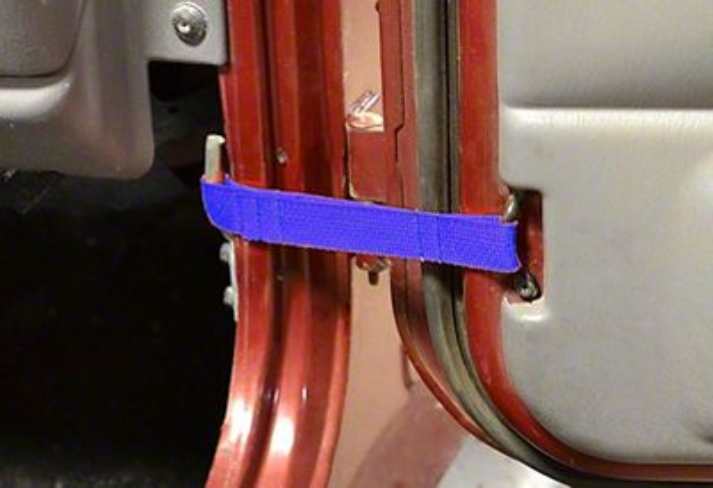 Steinjager Factory Door Limiting Straps - Blue (97-06 Jeep Wrangler TJ)