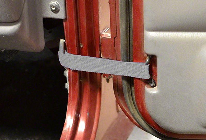 Steinjager Factory Door Limiting Straps - Gray (97-06 Jeep Wrangler TJ)