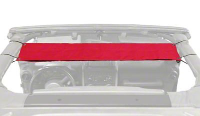 Steinjager Overhead Pocket - Red (97-06 Jeep Wrangler TJ)