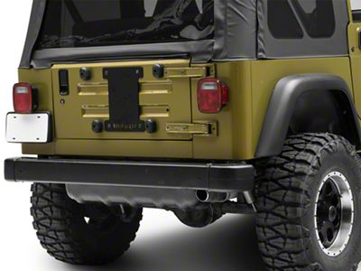 Steinjager Spare Tire Carrier Delete Plate - Black (97-06 Jeep Wrangler TJ)