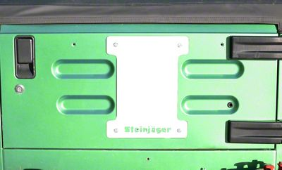 Steinjager Spare Tire Carrier Delete Plate - Cloud White (97-06 Jeep Wrangler TJ)