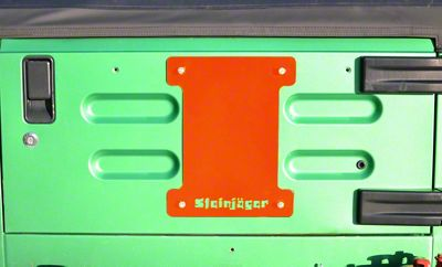 Steinjager Spare Tire Carrier Delete Plate - Fluorescent Orange (97-06 Jeep Wrangler TJ)