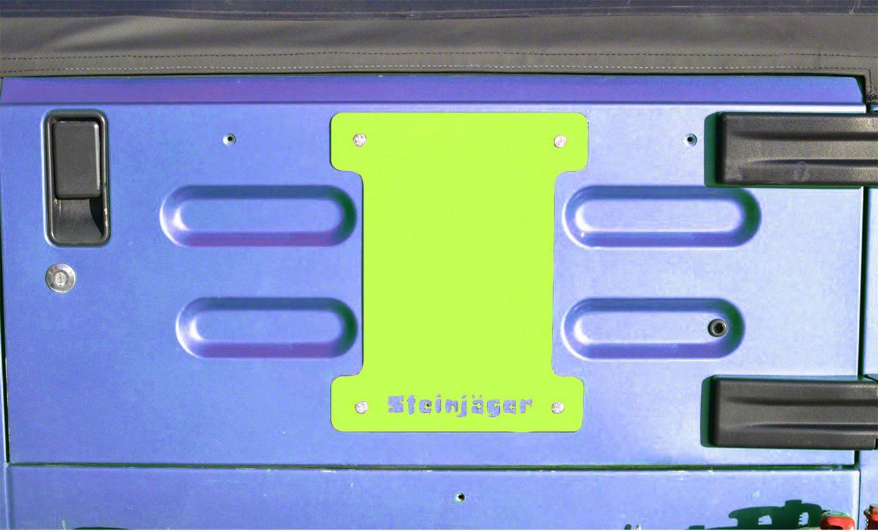 Steinjager Spare Tire Carrier Delete Plate - Gecko Green (97-06 Jeep Wrangler TJ)