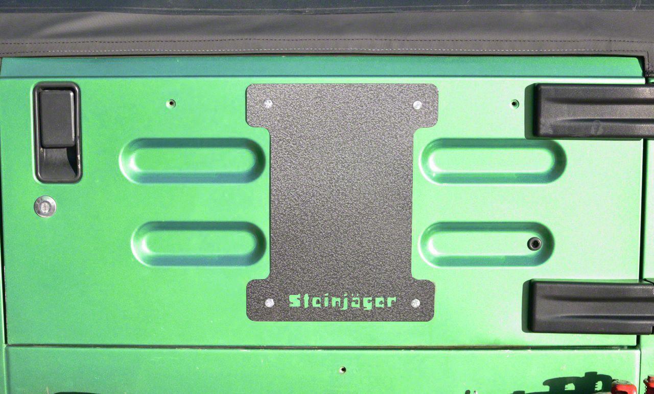 Steinjager Spare Tire Carrier Delete Plate - Gray Hammertone (97-06 Jeep Wrangler TJ)