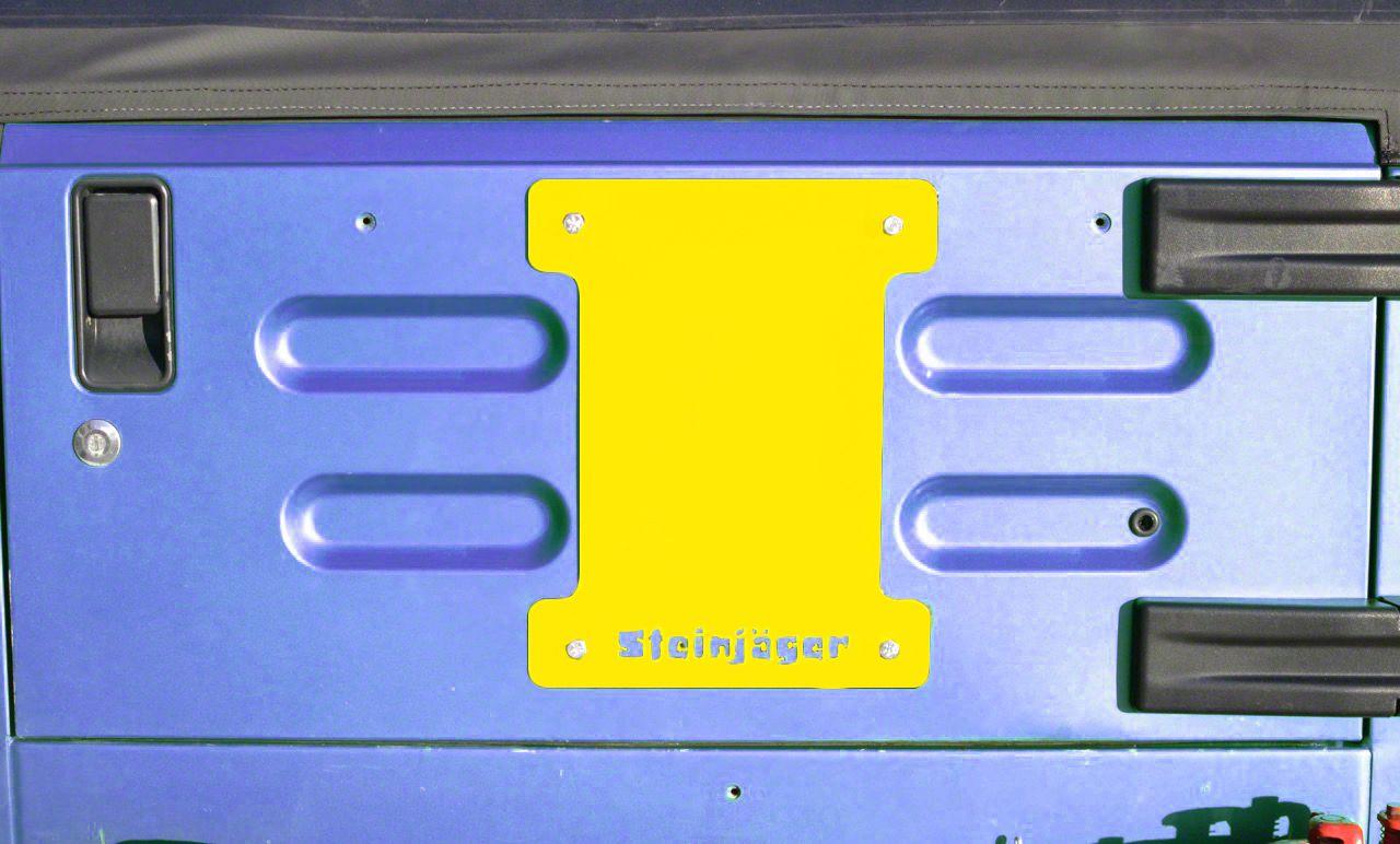 Steinjager Spare Tire Carrier Delete Plate - Lemon Peel (97-06 Jeep Wrangler TJ)