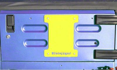 Steinjager Spare Tire Carrier Delete Plate - Neon Yellow (97-06 Jeep Wrangler TJ)