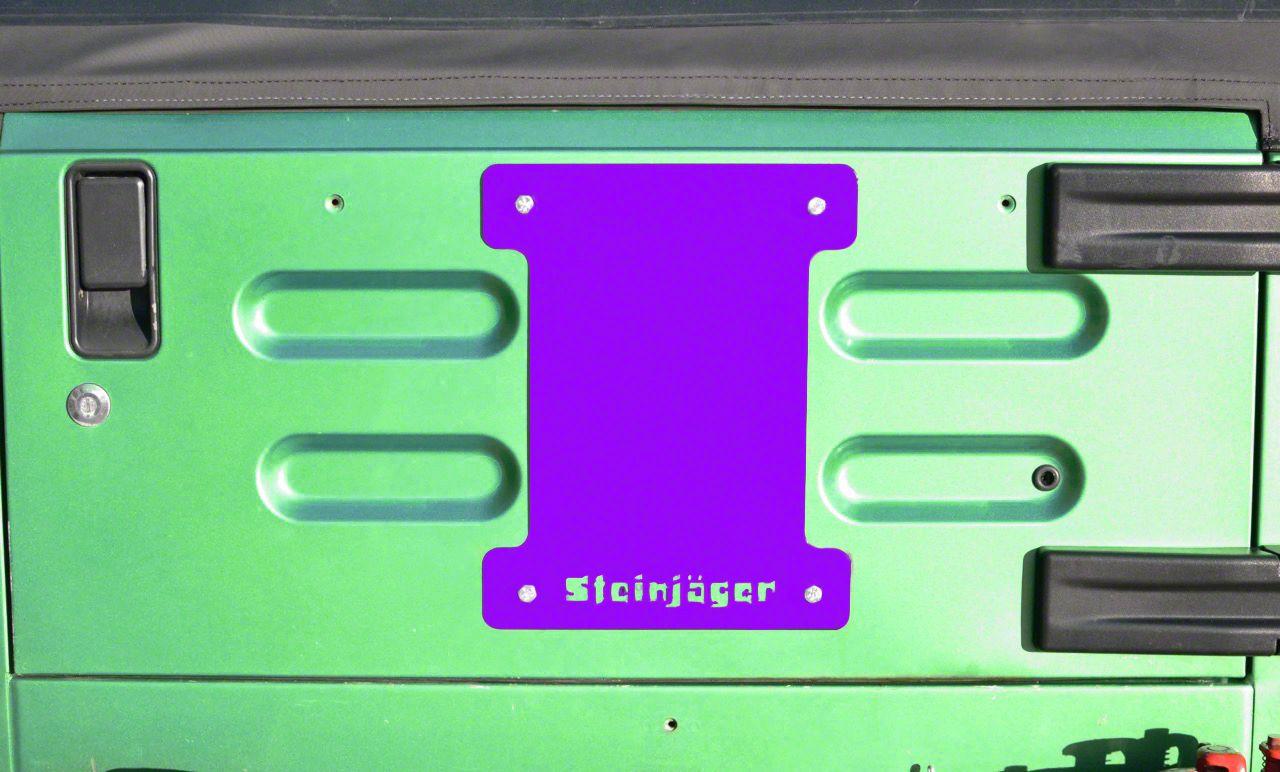 Steinjager Spare Tire Carrier Delete Plate - Sinbad Purple (97-06 Jeep Wrangler TJ)