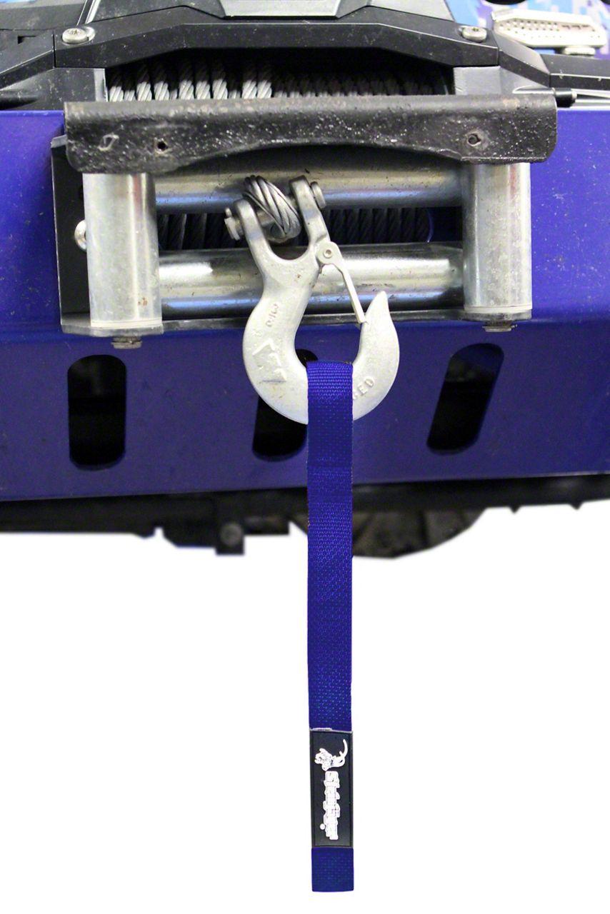 Steinjager Winch Hook Strap - Blue (97-06 Jeep Wrangler TJ)