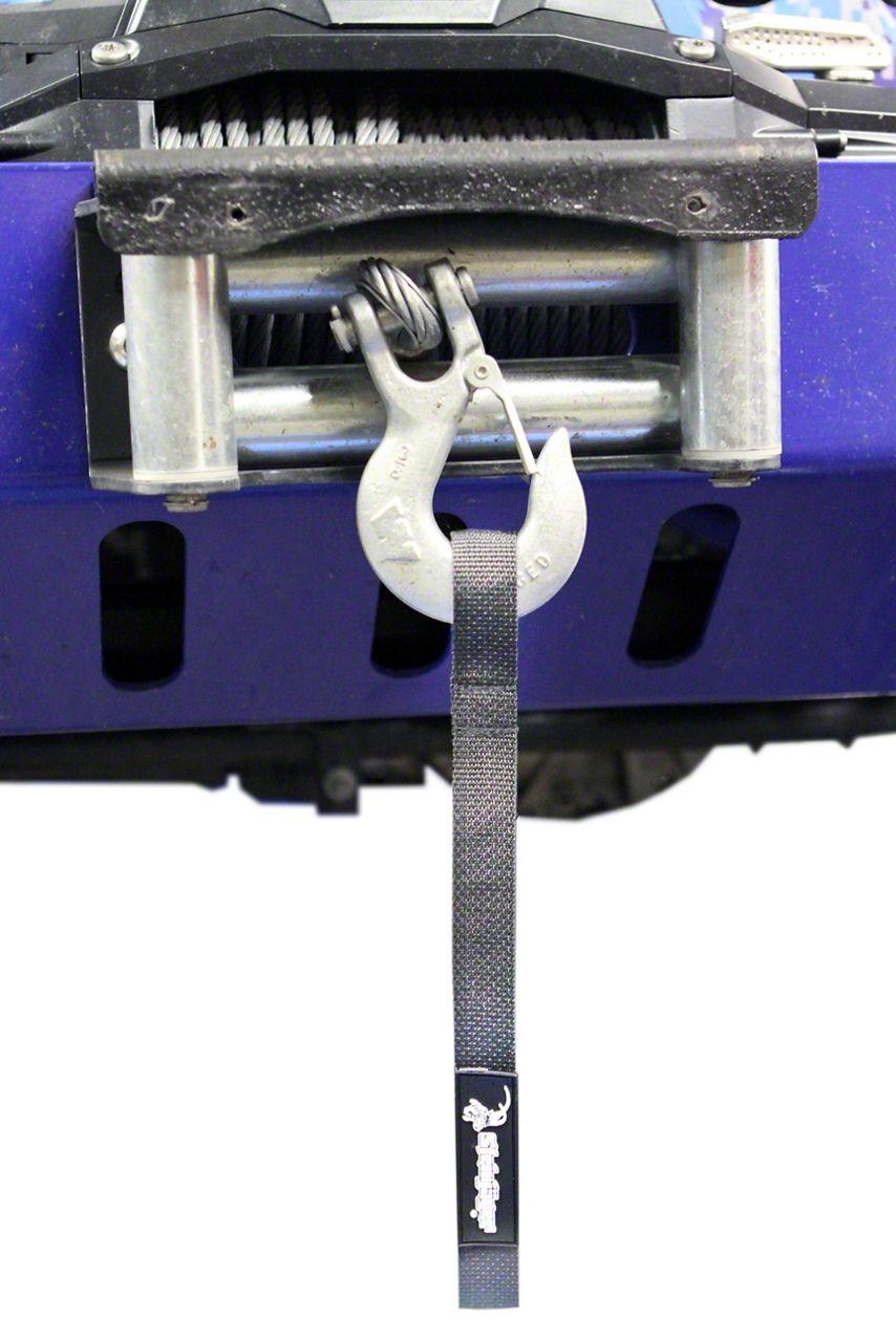 Steinjager Winch Hook Strap - Gray (97-06 Jeep Wrangler TJ)