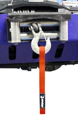 Steinjager Winch Hook Strap - Orange (97-06 Jeep Wrangler TJ)