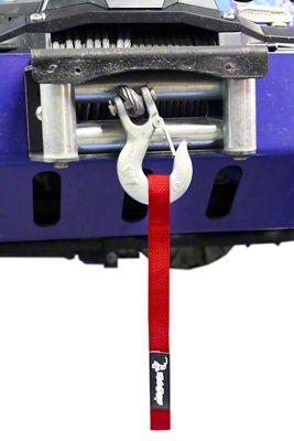 Steinjager Winch Hook Strap - Red (97-06 Jeep Wrangler TJ)