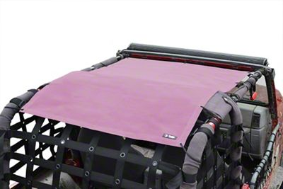 Steinjager Teddy Top Full Length Solar Screen Cover - Mauve (97-06 Jeep Wrangler TJ, Excluding Unlimited)