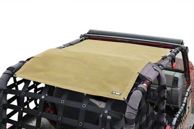 Steinjager Teddy Top Full Length Solar Screen Cover - Tan (97-06 Jeep Wrangler TJ, Excluding Unlimited)