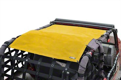 Steinjager Teddy Top Full Length Solar Screen Cover - Yellow (97-06 Jeep Wrangler TJ, Excluding Unlimited)