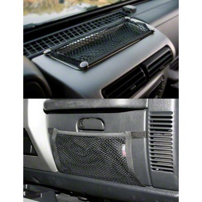 Rugged Ridge Glove Box & Dash Trail Net Kit (97-06 Jeep Wrangler TJ)