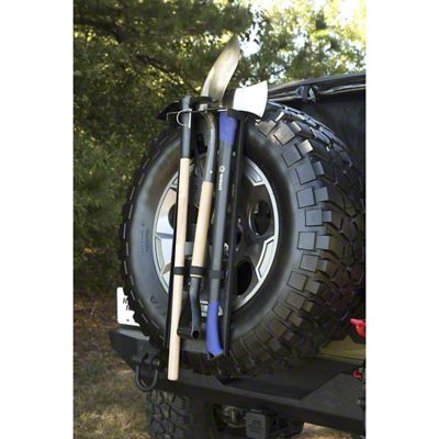 Rugged Ridge Spare Tire Tool Rack System (87-18 Jeep Wrangler YJ, TJ, JK & JL)