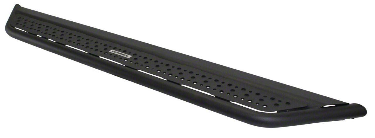 Go Rhino Dominator D6 Cab Length Side Steps - Textured Black (07-18 Jeep Wrangler JK 2 Door)