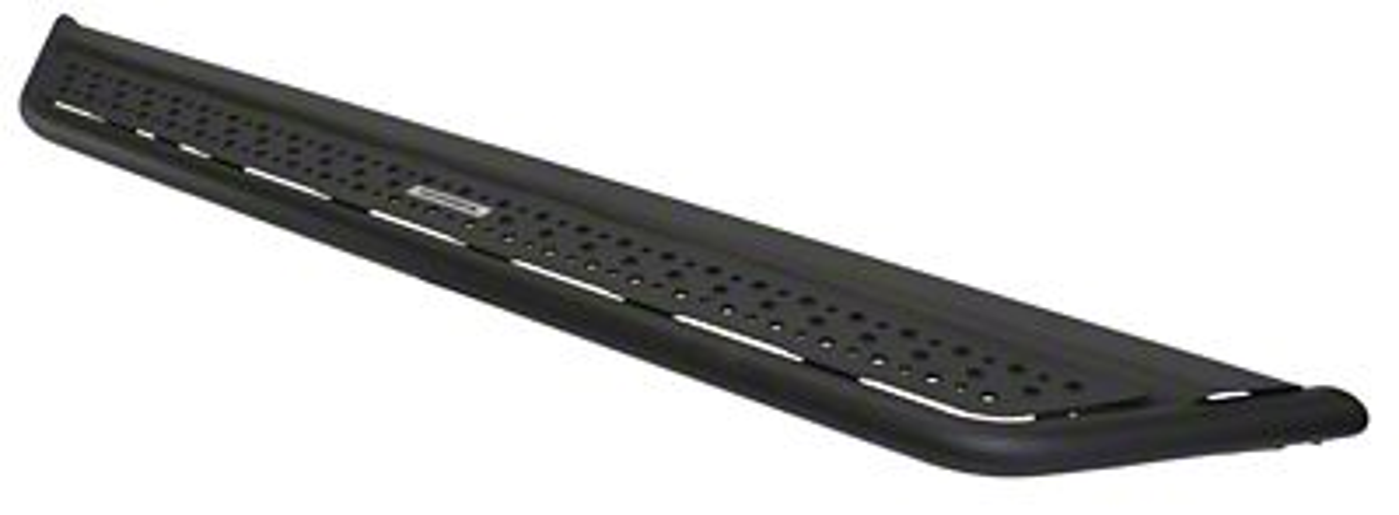 Go Rhino Dominator D6 Cab Length Side Steps - Textured Black (07-18 Jeep Wrangler JK 4 Door)